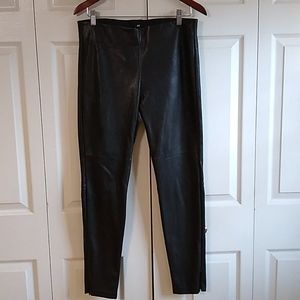 H & M faux leather pants size 12